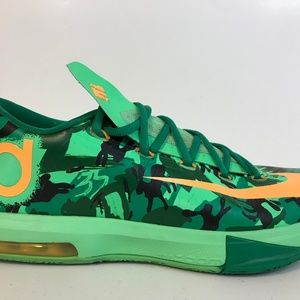 Nike KD VI 6 Lucid Green Atomic Orange Easter 10.5
